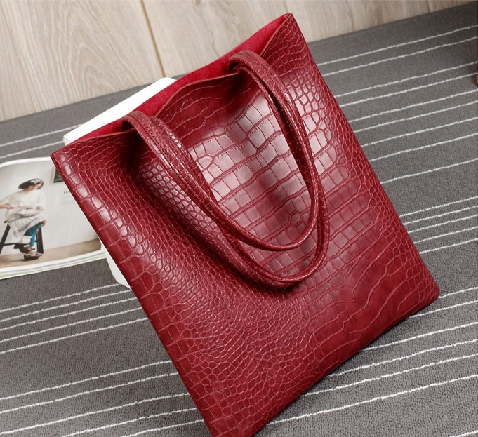 2017 Ultra-thin Ostrich Textured Shoulder Tote Bag
