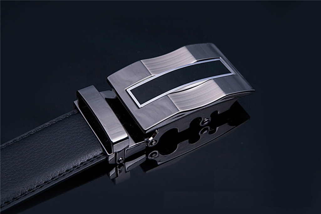 Men's Belt with Automatic Buckle, Second Layer Leather