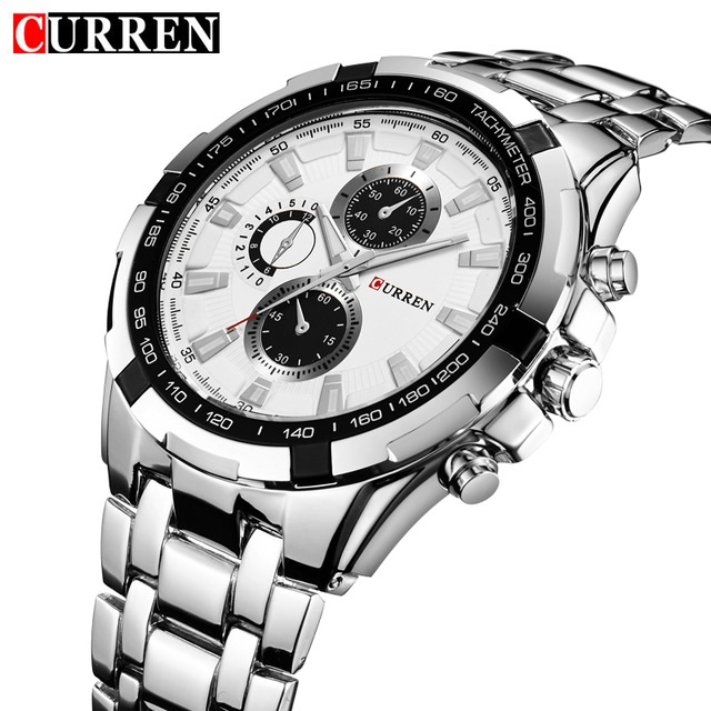 Curren 8023 Men's Stainless Steel Quartz Watch