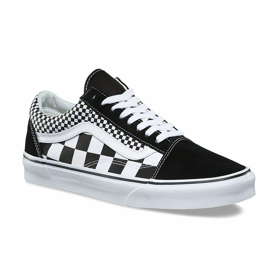 Vans Classic Mix Checkerboard Old Skool Canvas & Suede Skate Shoes/Sneakers