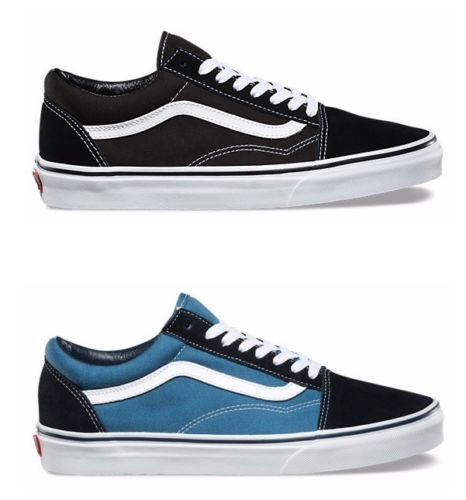 Vans Old Skool Canvas and Suede Skate Shoes/Sneakers