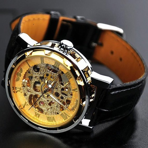 Forsining Winner 614 Men's Hand-winding Skeleton-dial Mechanical Watch